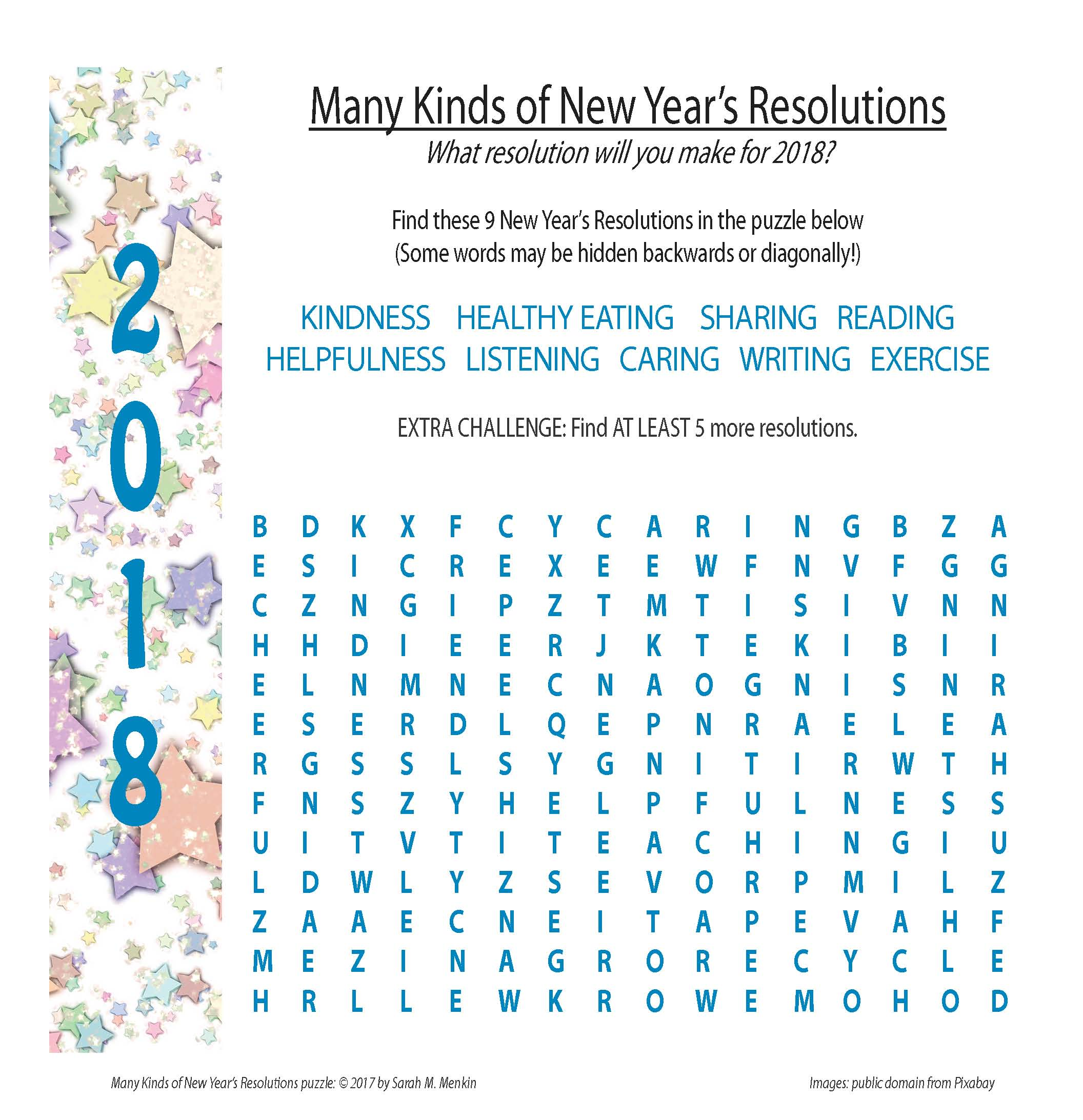 Resolutions puzzle